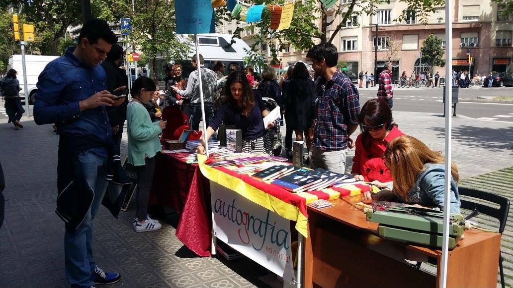 Autografía en Sant Jordi