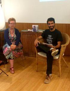 Ingrid Blasco durante la presentación de su libro en Barcelona